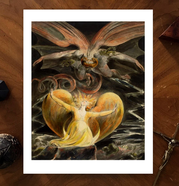 The Great Red Dragon William Blake Art Poster