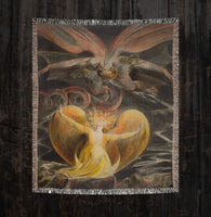 Great Dragon William Blake Woven Blankets