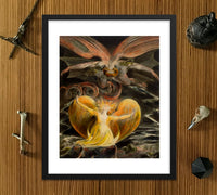 Dragon William Blake Framed Poster