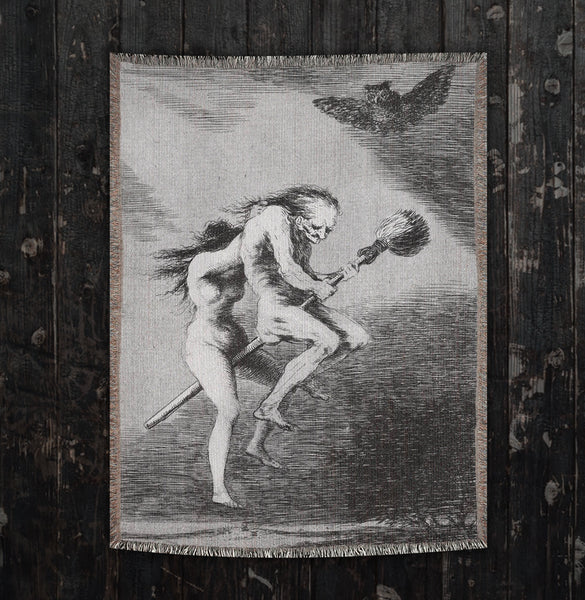 Witch Francisco de Goya Woven Art Blankets