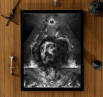 The Sun God - Fire Bearer Nestor Avalos Framed Poster