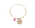 Pink Box Inspirational Expandable Wire Bangle Made With Swarovski
