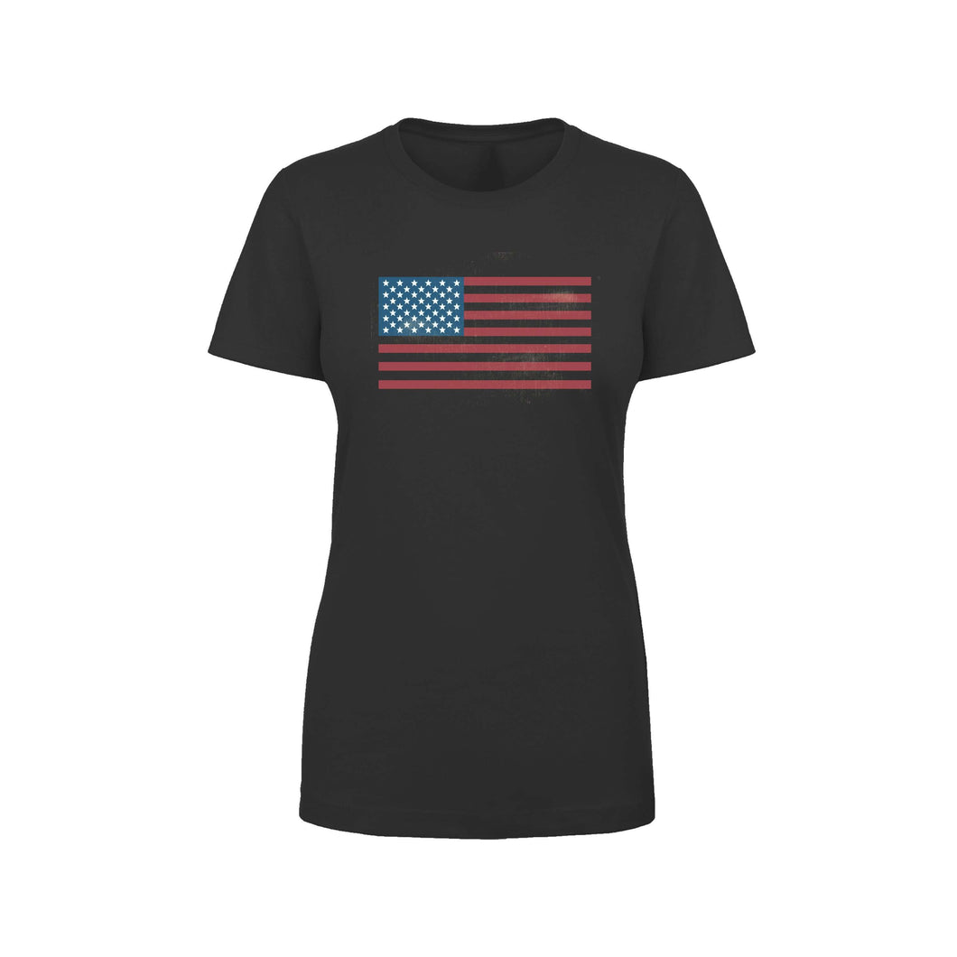 Soft Cotton Blend Inspirational Tee By Pink Box - AMERICAN FLAG