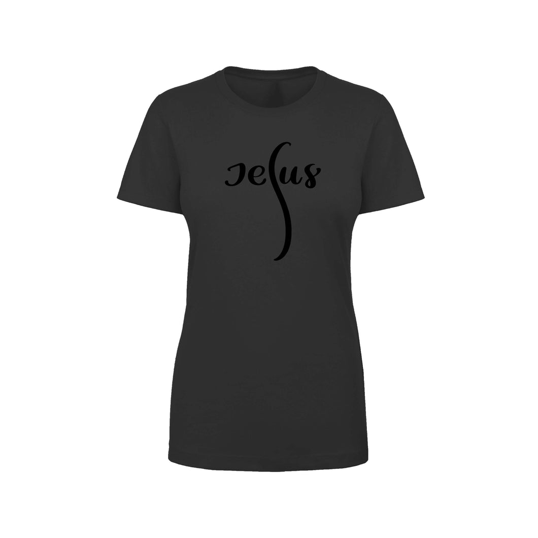 Soft Cotton Blend Inspirational Tee By Pink Box - JESUS