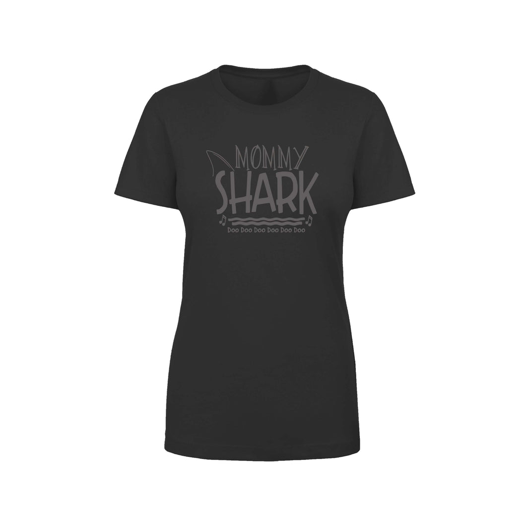 Shark Family Cotton Blend Tee By Pink Box - Mommy Shark