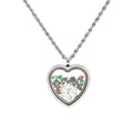 Crystal Encrusted 12 Days of Christmas Initial Locket With High Grade Cubic Zirconia By Pink Box