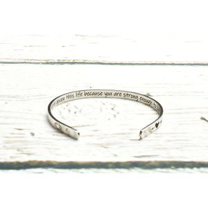 Solid Stainless Steel Inspirational Cuff