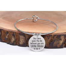 Inspirational Heart Wire Bangle By Pink Box