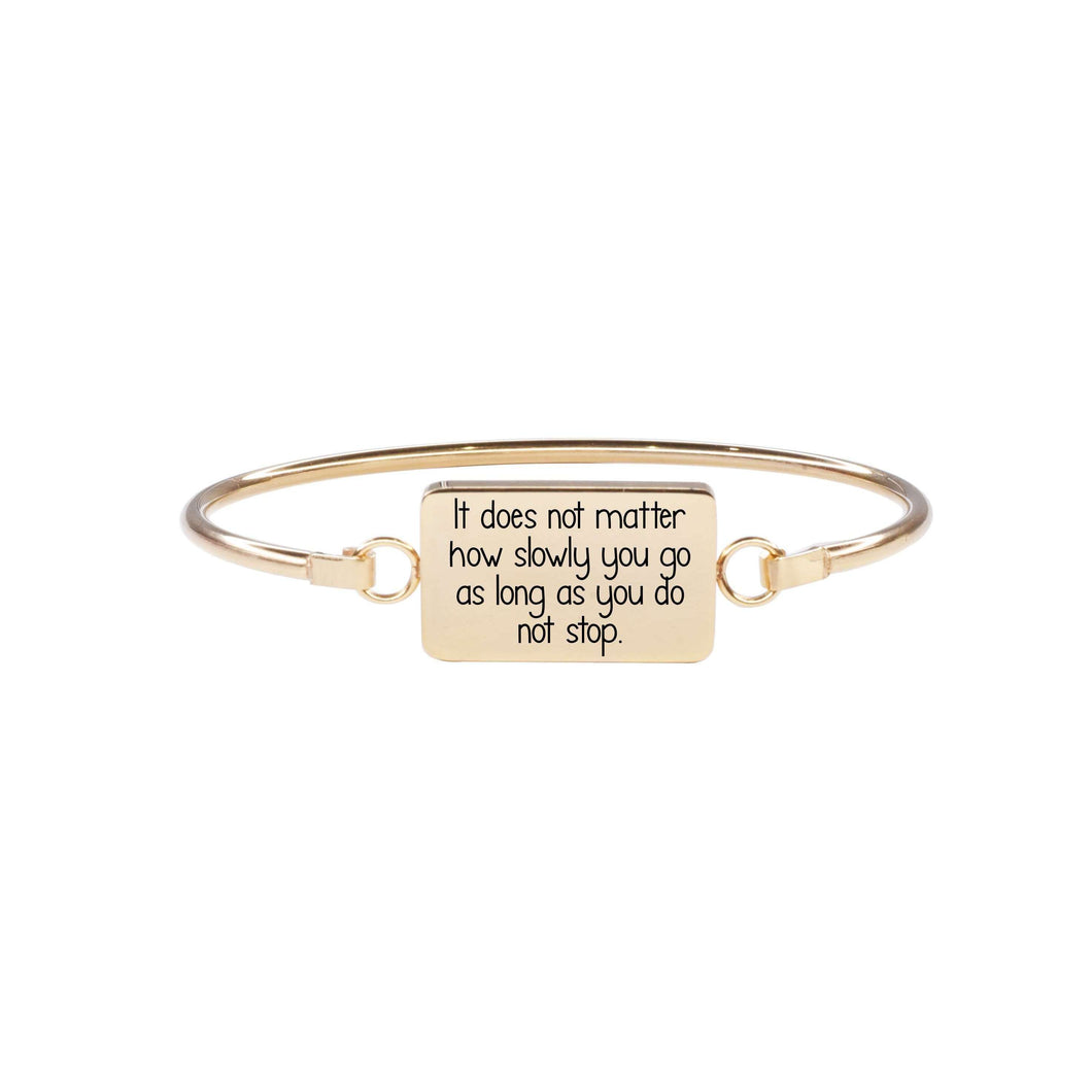 Inspirational Bar Bangle by Pink Box