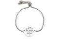 Solid Stainless Steel Inspirational Slider Bracelet by Pink Box