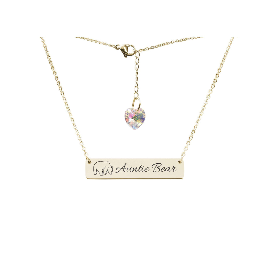 Horizontal Bar Necklace Made With Swarovski By Pink Box