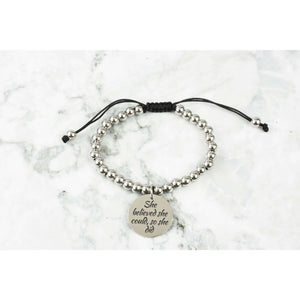 Adjustable Inspirational Charm Bracelet By Pink Box