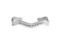 Solid Stainless Steel Inspirational Wave Cuff By Pink Box