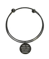 Solid Stainless Steel Double Layer Inspirational Bangles By Pink Box