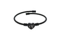 Pink Box 2020 Initial Heart Cable Bracelet in Black or Rainbow