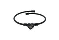 Pink Box 2020 Initial Hear Cable Bracelet in Black or Rainbow