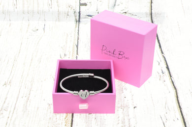 Pink Box 2020 Initial Hear Cable Bracelet 3 Color Options Available