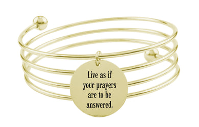 Pink Box Inspirational Quad Bangle