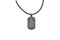 Genuine Leather Scripture Necklace By Pink Box - Black