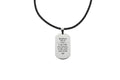 Genuine Braided Leather Scripture Necklace By Pink Box - Silver