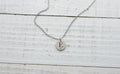 Tiny Initial Necklace with Cubic Zirconia by Pink Box