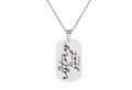 Unisex Stainless Steel Scripture Dog Tag Necklace By Pink Box