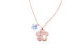 Inspirational Flower Pendant Necklace Made With Swarovski By Pink Box