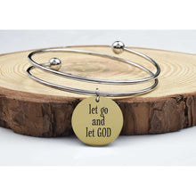 Two-Tone Double Layer Inspirational Bangles By Pink Box