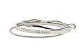 Solid Stainless Steel 3 Pc Hashtag Bangle Set