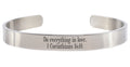 8MM Solid Stainless Steel Scripture Cuffs by Pink Box - Part 2