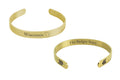 50 States Stainless Steel 8mm Cuffs in Gold by Pink Box