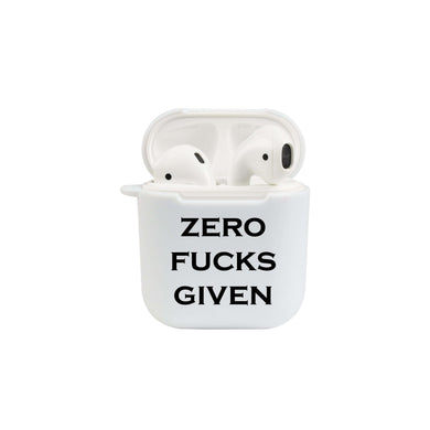 Soft TPU Airpod Protective Case - ZERO FUCKS GIVEN