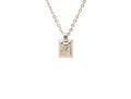 Beveled Initial Cube with Cubic Zirconia by Pink Box
