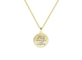 Solid Stainless Steel Bezeled Disc Inspirational Necklace by Pink Box