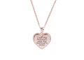 Solid Stainless Steel Bezeled Heart Inspirational Necklace by Pink Box
