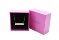 Pink Box Scripture Horizontal Bar Necklace - 5 Color Options