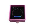 Pink Box Inspirational ID Bolo Bracelet in Black or Rainbow