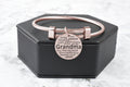 Rose Gold Plated Stainless Steel Inspirational Cable Bangles By Pink Box