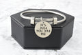 Solid Stainless Steel Inspirational Cable Bangle By Pink Box