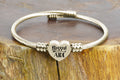 Frontline Appreciation Heart Cable Bracelet in 14k Gold Plating By Pink Box