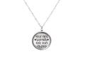 Solid Stainless Steel Inspirational Glass Cabochon Necklace By Pink Box