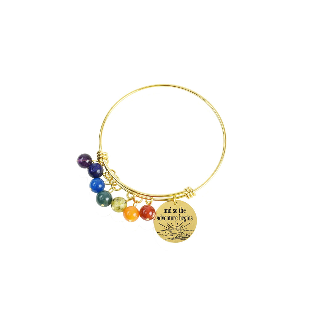 Genuine Chakra Inspirational Bangle