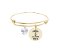 U.S. Navy Family Bangle Made With Swarovski By Pink Box