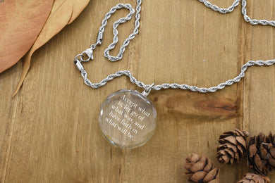 K9 Round Crystal Inspirational Necklace by Pink Box