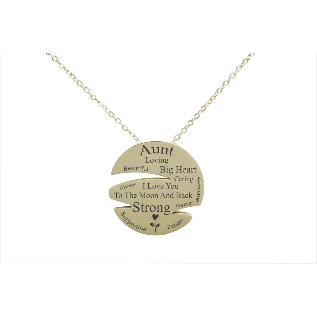 I Love You To The Moon Disc Necklace By Pink Box