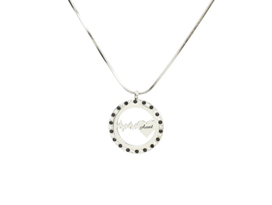 Heartbeat Pendant Necklace with Cubic Zirconia by Pink Box