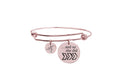 And so she did initial bangle by Pink Box