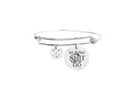 Fun Sayings Bangle With Cubic Zirconia by Pink Box