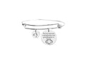 The love between a grandmother and granddaughter initial bangle by Pink Box