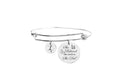 She Believed She Could Cubic Zirconia Accent Initial Bangle by Pink Box